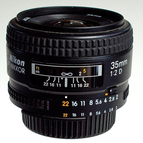 Nikkor 35mm F2 AFD Prime lens