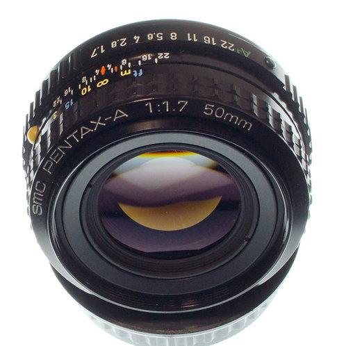 Pentax-A SMC 50mm F1.7 MF lens S#1693362