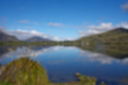 Lake Hayes, South Is. New Zealand. Reflections