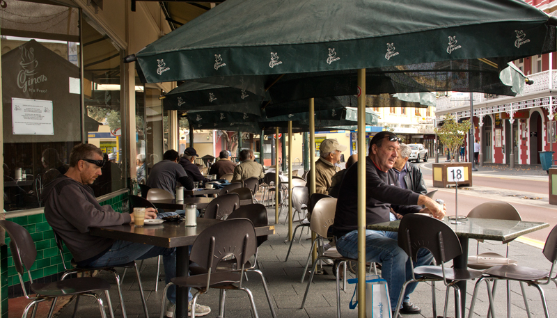 Fremantle Morning coffee at Gino's