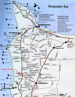Margaret River route map