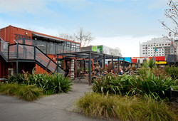 Christchurch container cafes