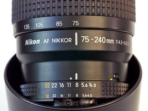 Nikon 75-240 lens side view
