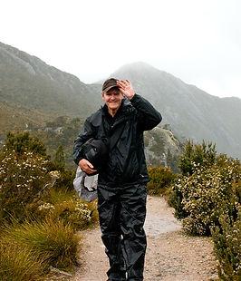 Alex at Dove Lake Tasmania