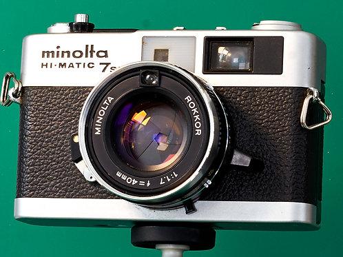 Minolta Hi-Matic  7s II 35mm rangefinder S#9106241