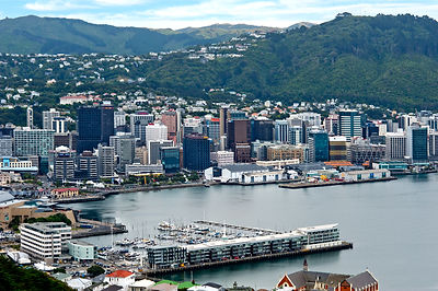 Wellington Harbour from Mt Victoria