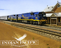 Indian Pacific locos at Mannahill