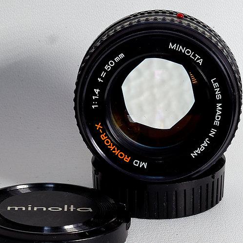 Minolta MD 50mm F1.4 lens