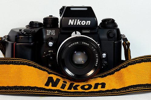 Nikon F4 SLR Camera Body with MF-23 back S #2404423