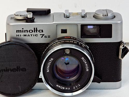 Minolta 7SII Hi-Matic front view