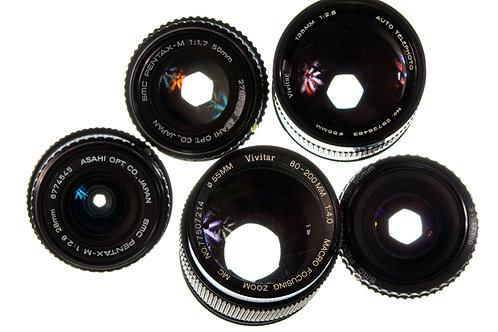 Pentax 5 lens bundle