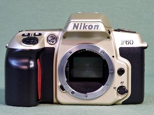 Nikon F60 slr camera front view