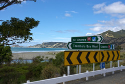 Tokomaru Gisborne signpost