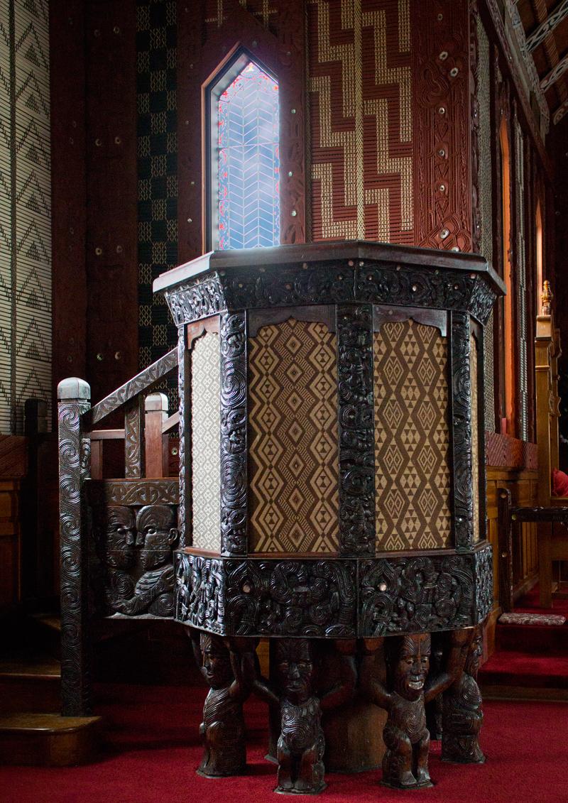 TeArawa Pulpit St Mary's atTikiTiki