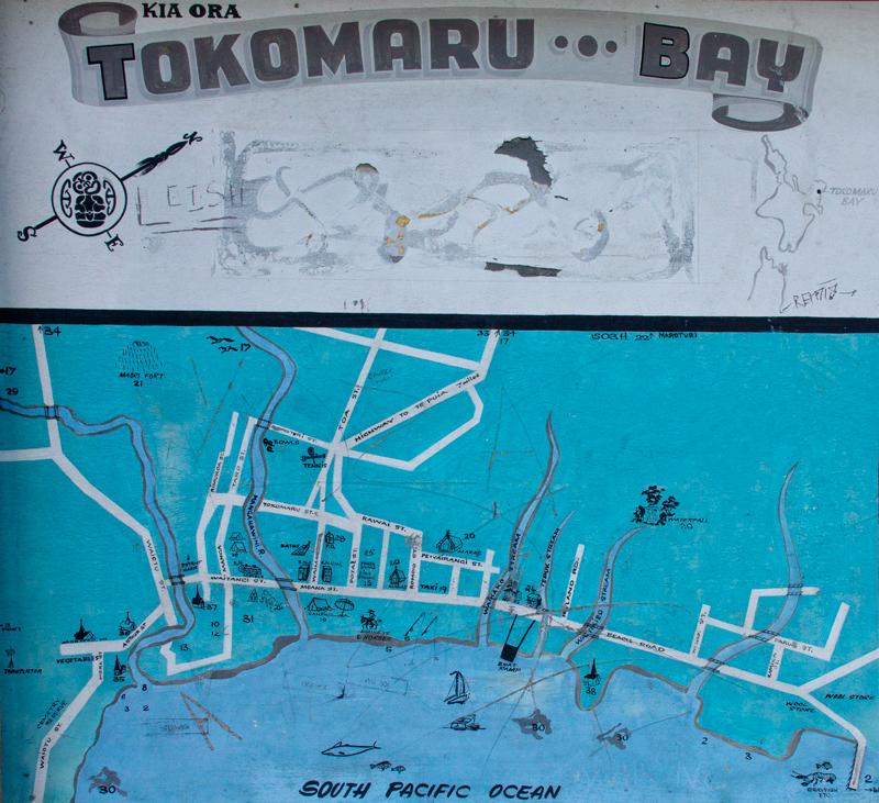Tokomaru Bay freehand map