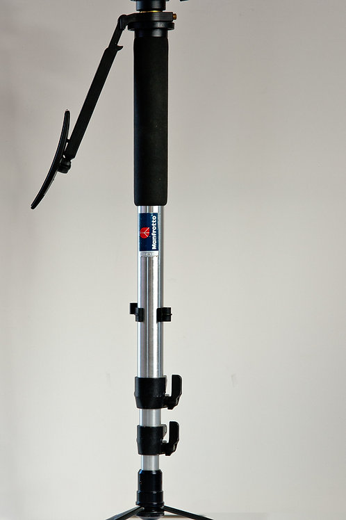 Manfrotto 434 monopod with feet and shoulder brace