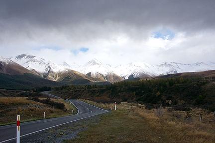 Driving towards Arthurs Pass