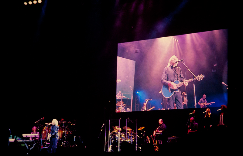 Barry Gibb, on stage at The Mission