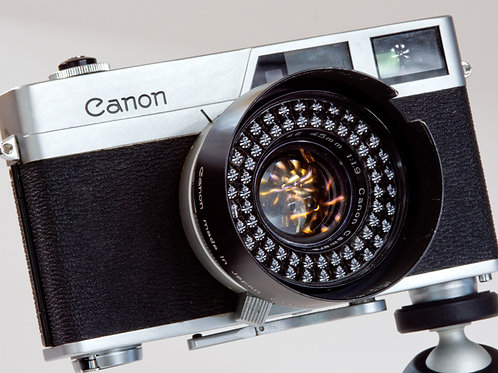 Canon Canonet rangefinder camera with fixed 45mm F1.9 lens