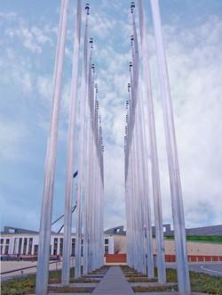Parliament House flagpoles