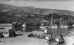 Papeete Port scene 1946