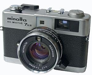 Minolta 7SII rangefinder camera