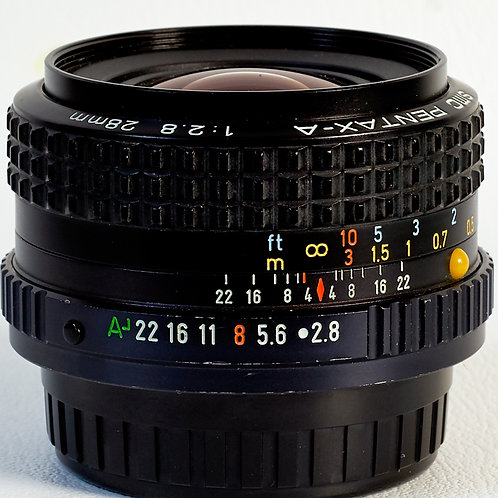 Pentax-A SMC 28mm F2.8 MF lens S#5084215
