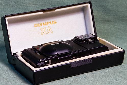 Olympus XA rangefinder in hard case