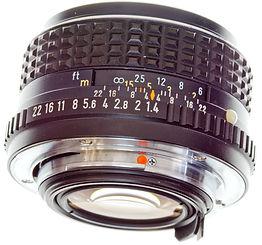 PentaxM 50mm F1.4 manual focus lens