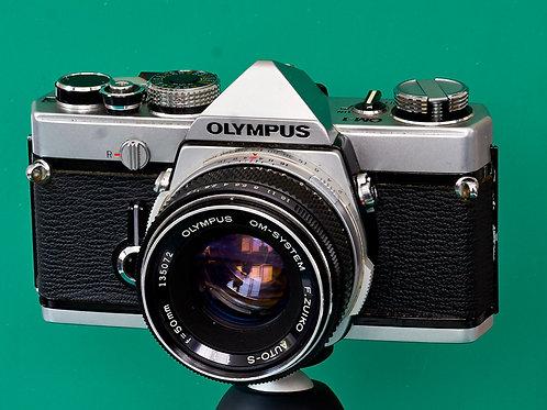 Olympus OM-1 SLR (S#150412) with Zuiko lens options