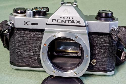 Pentax K1000 SLR front view