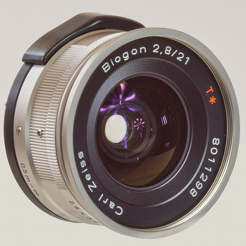 Carl Zeiss Biogon G mount lens 21mm F2.8. Front view