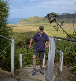Stepping up to East Cape Lighthouse