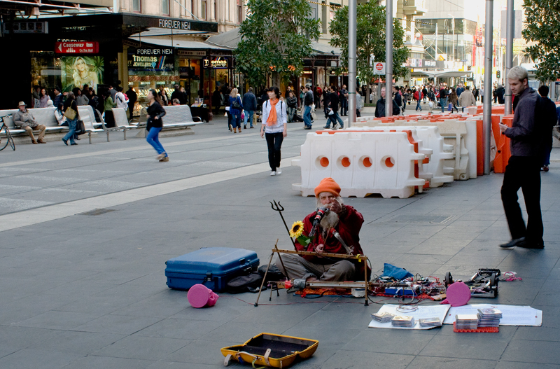 streetmusic, Bourke St Mall