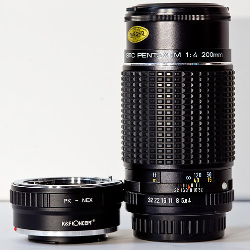Pentax-M SMC 200mm F4 MF lens S#7326570
