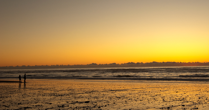 Hokitika Beach sunset