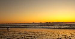 Hokitika Beach sunset