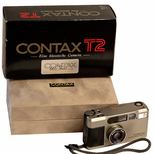 Contax T2 analogue camera. Zeiss 38mm F2.8 Sonnar lens.