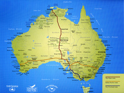 Indian Pacific rail journey map