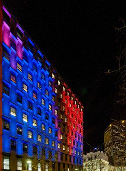 Spring Street light show Melbourne