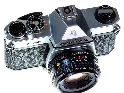 Pentax K1000 and lens front view