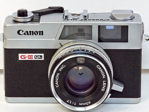 Canonet GIII-QL17 front view
