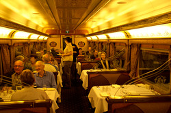 Indian Pacific Queen Adelaide dining