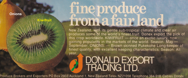 Donald Export Fruitworld ad 1976