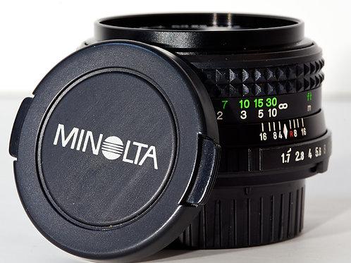 Minolta MD 50mm  F1.7 Lens