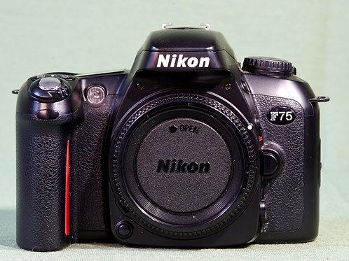 Nikon F75 slr camera front view