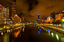 Night view, SouthBank Melbourne