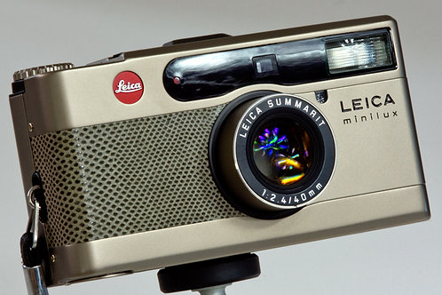 Leica Minilux with Summarit 40mm F2.4 lens front view