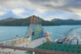 InterIslander 'Aratere' in the Marlborough Sounds, South Is NZ