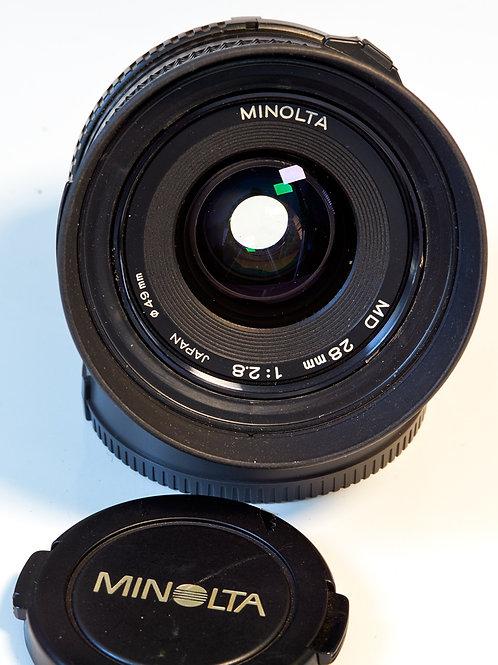 Minolta MD 28mm  F2.8 Lens